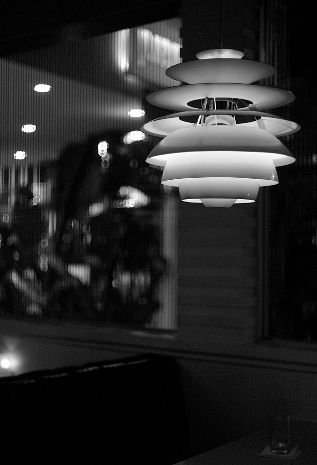 The Standard hotel's diner with Danish Louis Poulsen lamps. Leica M9 with Leica 50mm Noctilux-M f/1.0