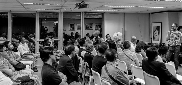 "From my 2015 lecture ""Noctilux - King of the Night"" about the Leica 50mm f/0.95 lens. We had a group of about 80 people. Thanks to everyone for showing up. The exhibition of my Noctilux prints is still to be seen in the Schmidt Marketing Hong Kong offices and gallery throughout December."