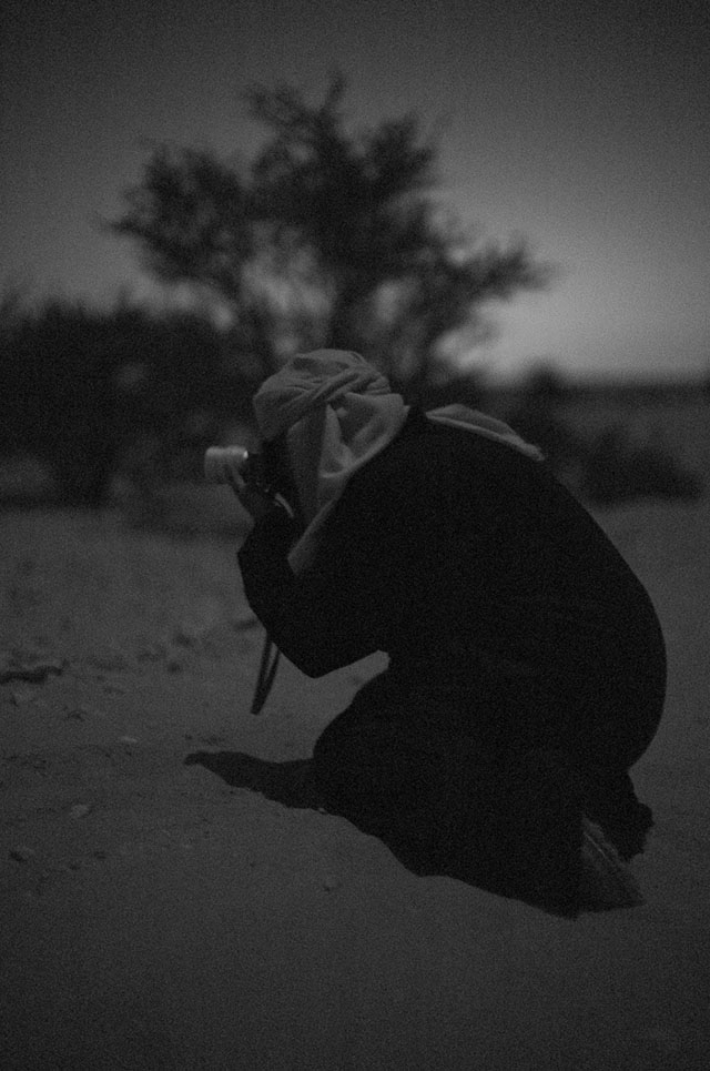 Khalid Al-Thani photographing by moonlight