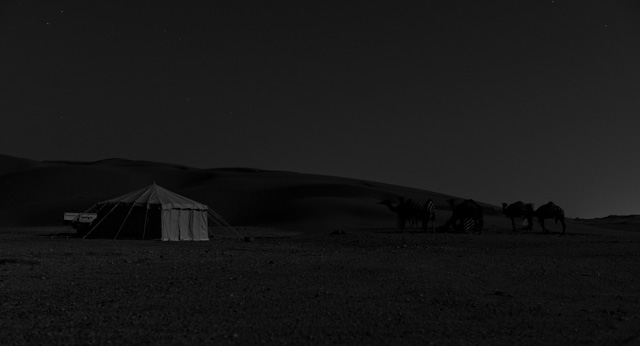 The camp at nigth. Leica M Monochrom