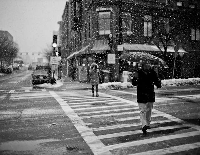Boston snow. Leica M 240 with 50mm Noctilux-M ASPH f/0.95