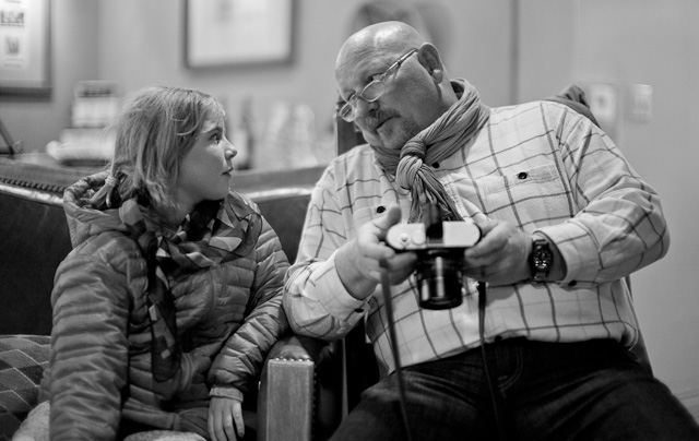 Robin talking about life and cameras with Linford Toy. Leica M 240 with Leica 50mm Noctilux-M ASPH f/0.95.