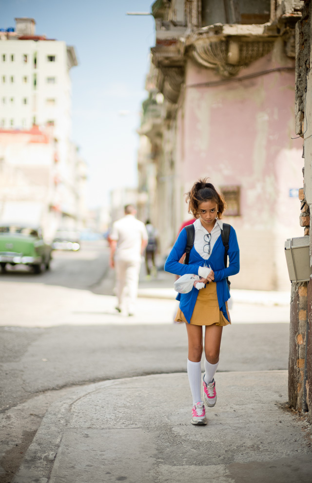 "This school girl walking the streets of Havana, Cuba became the cover of my eBook, ""A Little Book on Photography"" ($47). Leica M10 with Leica 50mm Noctilux-M ASPH f/0.95. Copyright 2017-2018 Thorsten von Overgaard."