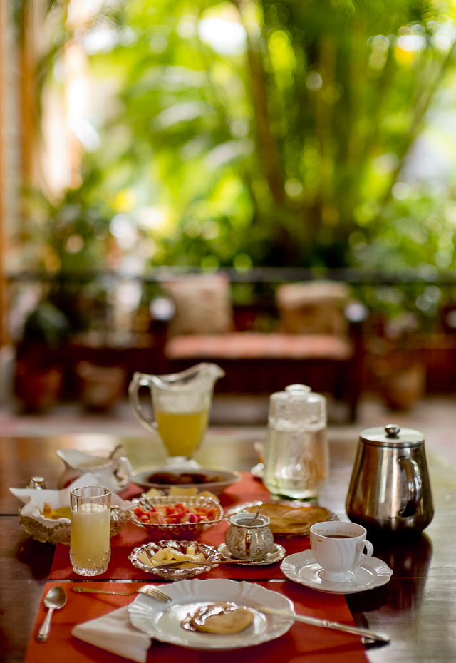 My vegetarian breakfast table in Cuba with fresh juice, milk, honey, eggs and strong muddy coffee. Leica M10 with Leica 50mm Noctilux-M ASPH f/0.95. Copyright 2017-2018 Thorsten von Overgaard.