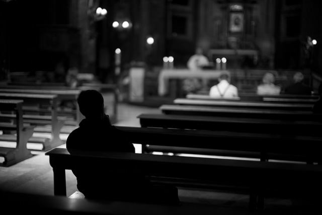 Church time in Rome. Leica M10 with Leica 50mm Noctilux-M ASPH f/0.95. © 2017 Thorsten Overgaard.