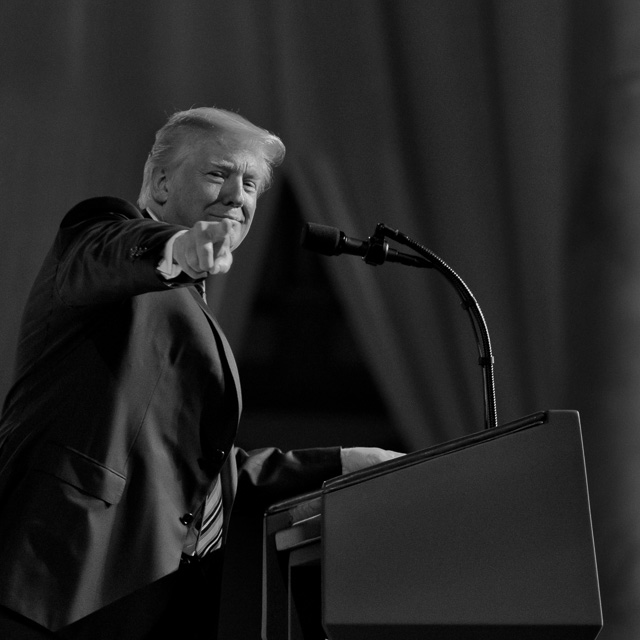 """Thank you, Joy Villa"" from President Donald Trump in his address to the guests at the Susan B. Anthony List Gala. Leica M10 with Leica 75mm Noctilux-M ASPH f/1.25. © 2018 Thorsten von Overgaard."