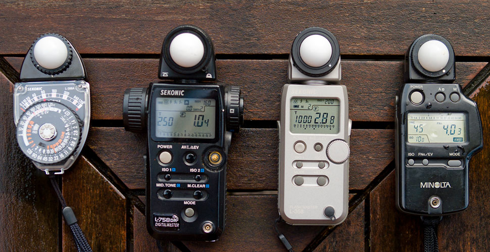 My Sekonic and Minolta light meters