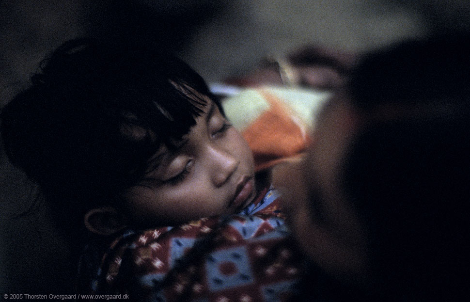 Sleeping Child in India