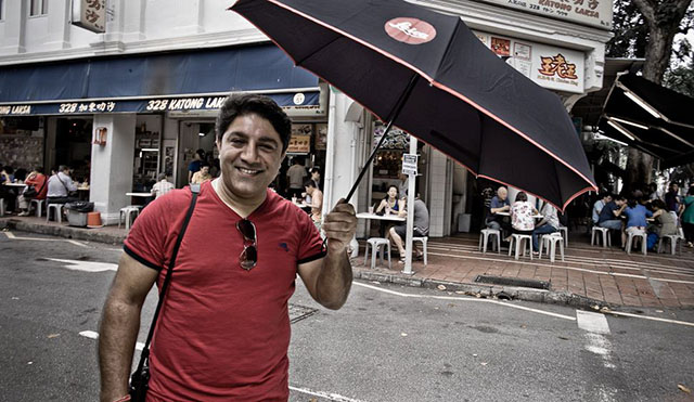 "Voted ""Sexiest Mr. Leica Dealer 2013"". The umbrella just takes it home! (damn!). Sunil Kaul whi is head of the extremely succesful Leica Camera AG expansion in Asia."