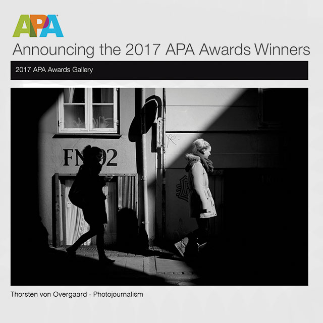 Winner of the APA Award 2017 (Artist Photographers America).