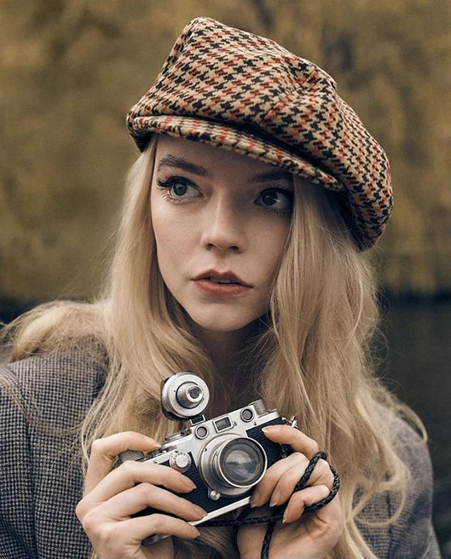 Actress Anya Taylor-Joy with her Leica.