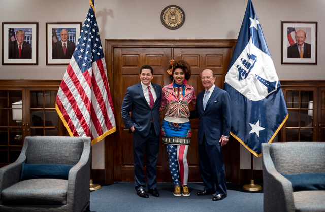 Joy Villa with Acting National Director, Chris Garcia (left), and Secretary of Commerce, Mr. Wilbur Ross (right). Leica M10 with Leica 35mm Summilux-M AA f/1.4. © 2017 Thorsten Overgaard.