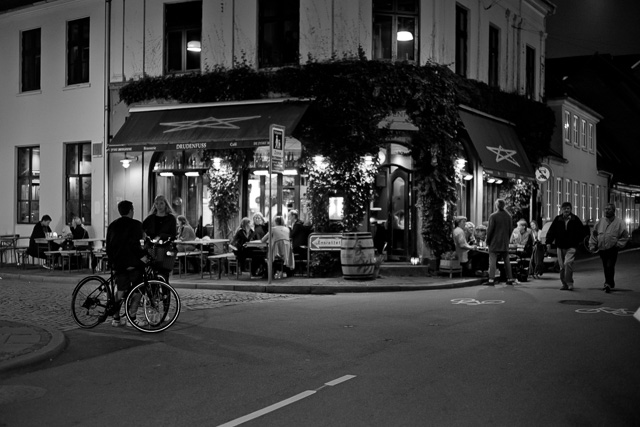 Summer night in Denmark outside Cafe Drudenfuss. Leica M10 with Leica 50mm Summilux-M ASPH f/1.4 Black Chrome. © Thorsten Overgaard.