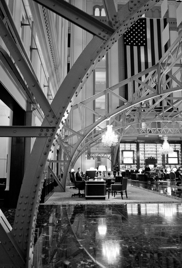 Inside the Trump Tower Hotel in DC. It opened November 2016 in the former post office. Leica CL with Leica 18mm Elmarit-TL ASPH f/2.8. © 2018 Thorsten von Overgaard.