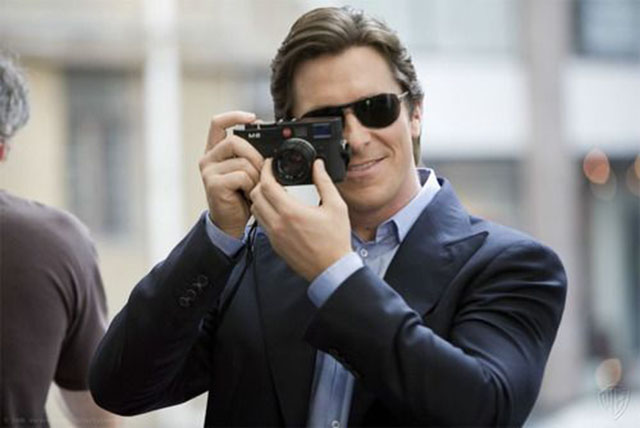 Christian Bale with his Leica