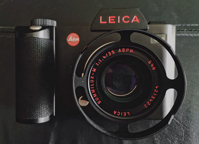 Hari Subramanyam in Germany had Leica Camera AG change all the engravings on his Leica SL (and lens) into red paint. The ventilated lens hood is the one I make and you can get in the Overgaard Gallery Store.