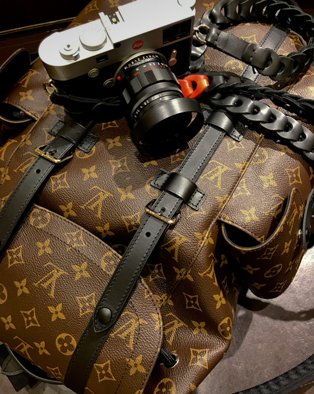 Louis Vuitton Monogram backpack as camera bag for Leica M10 and more ...