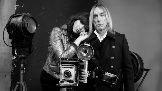Daisy Lowe and Iggy Pop in the studio with the Leica as mackup.