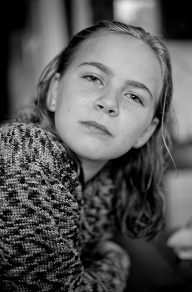 My daughter Robin Isabella in Denmark. The black and white JPG from the Leica M 240 with Leica 50mm APO-Summicron-M ASPH f/2.0. © 2015 Thorsten Overgaard.
