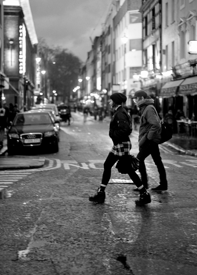 London in the rain. We didn't have snow and it actually wasn't very cold. Leica M 240 with Leica 50mm Summicron-M f/2.0.