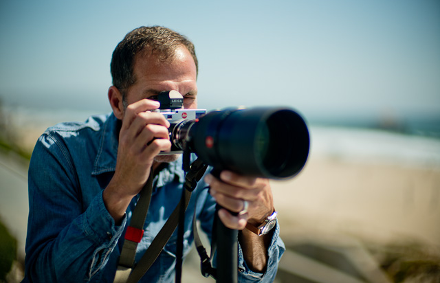 Bringing out the big guns. Here it is Matt Jacobson with the Leica 180mm Summicron-R APO f/2.0 on the Leica M 240.