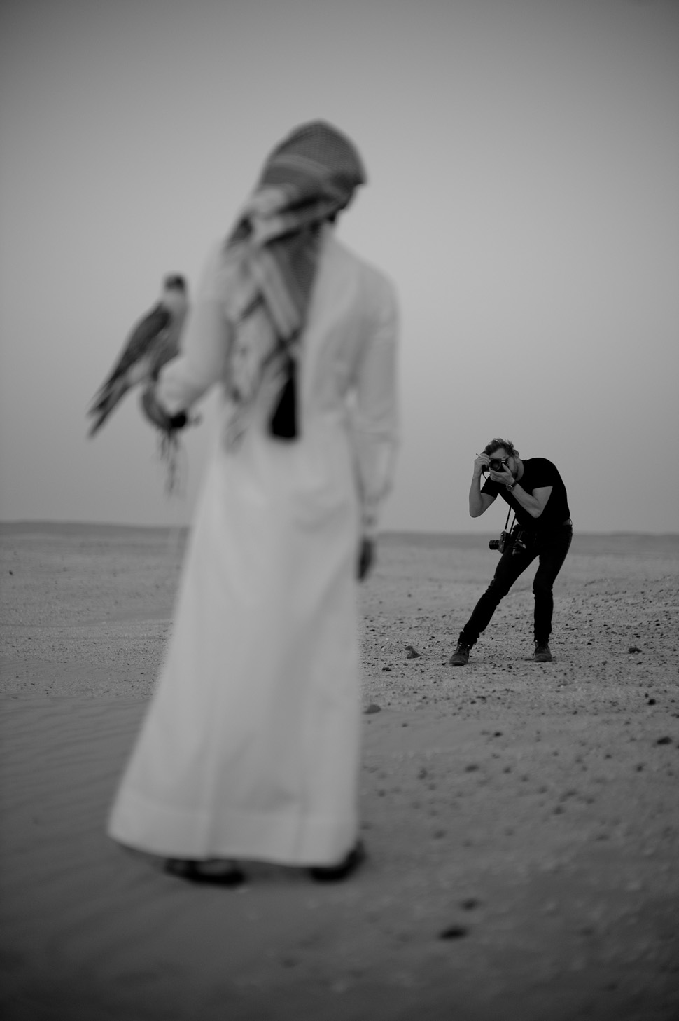 Thorsten Overgaard by Khalid Bin Hamad AL-Thani in the desert of Qatar. © 2013 Khalid Bin Hamad AL-Thani. All rights reserved. Leica M9 Hermes with Leica 50mm Noctilux-M ASPH f/0.95
