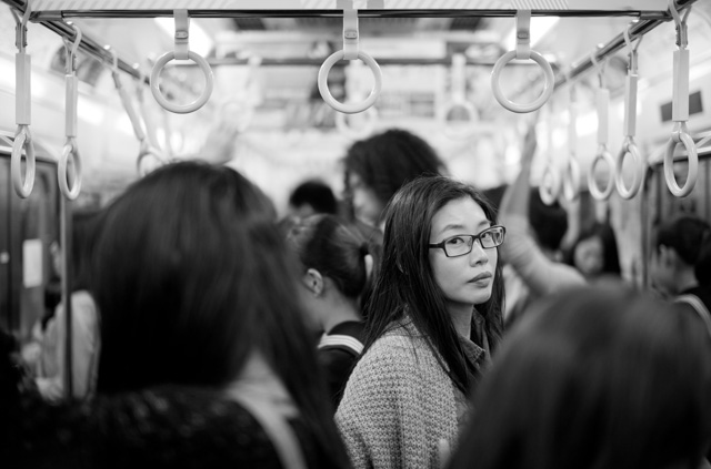 The Girl on the Train, Tokyo, Japan. Leica M-D 262 with Leica 50mm Summilux-M ASPH f/1.4 Black Chrome. © 2016 Thorsten Overgaard.