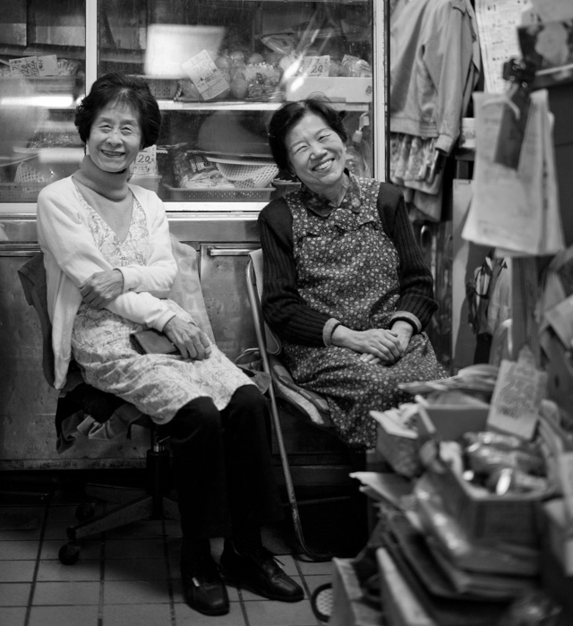 I asked these two ladies if I could take their photo. Shibuya-ku, Tokyo. Leica M-D 262 with Leica 50mm Summilux-M ASPH f/1.4 Black Chrome. © 2016 Thorsten Overgaard.