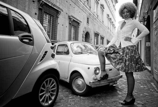 Fiat 500 and Joy Villa in Rome. Leica M 240 with Leica 21mm Summilux-M ASPH f/1.4. © 2013-2016 Thorsten Overgaard.