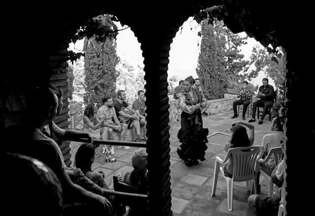 Flamenco in the sunset hour in a villa in Spain. Leica M Monochrom with Leica 28mm Summilux-M ASPH f/1.4. © Thorsten Overgaard.