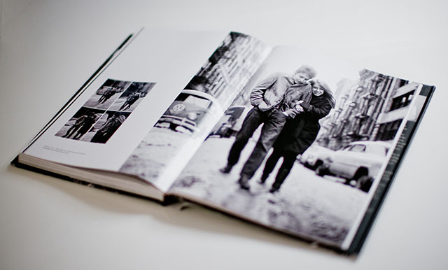 "Icon of a time: In the book Keeping Time the cover photo for ""Freewheelin'"" is shown in black and white though the album was in color. The signed edition of the image is available both in color and black & white"