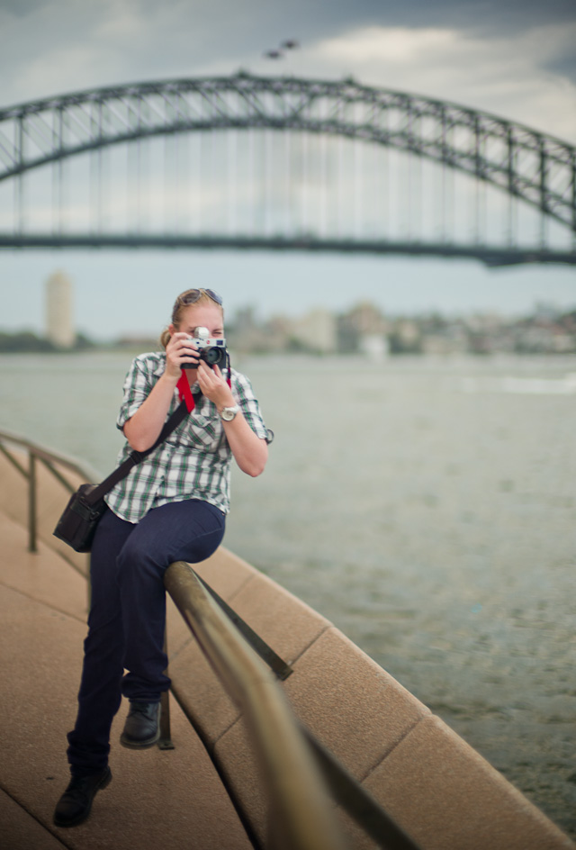 Cassie McBride working with her Leica M240 on the workshop in Sydney. Cassie is a navy photographer with the Australian Navy.