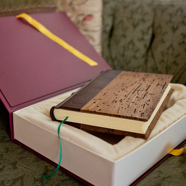 Another handmade Epica Wood Cover journal with my intials. Maybe more for home use than travel.