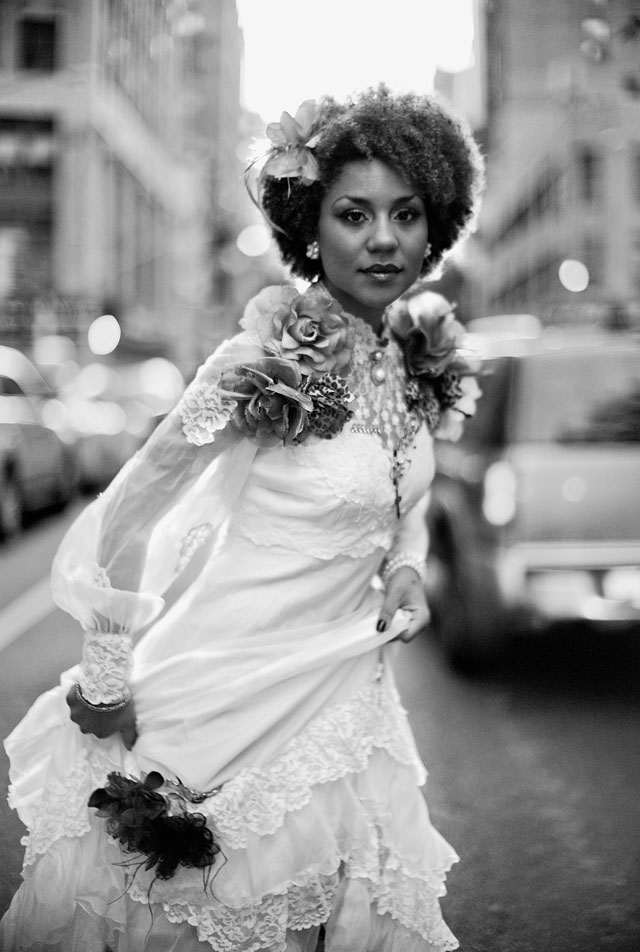 American singer and model Joy Villa, New York, August 2012
