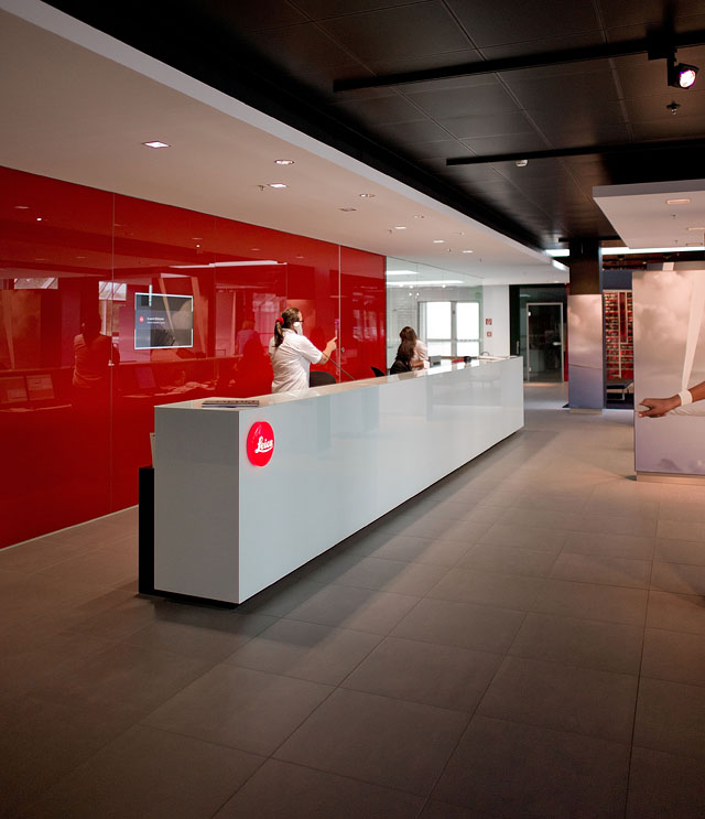 Leica reception area in Solms