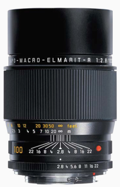Leica 100mm APO-Macro-Elmarit-R f/2.8  (Model 11668)