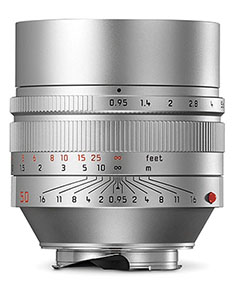 The Leica Noctilux-M ASPH f/0.95 in silver