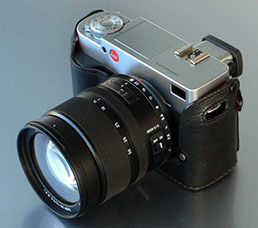 Leica Digilux 3 with interchangeable lenses was a blown-up Leica Digilux 2: Larger body, extruded viewfinder, and mirror inside.