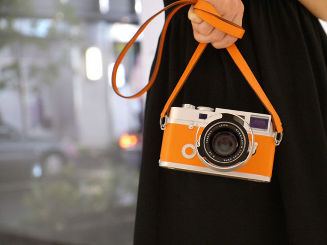 The Leica M7 film camera in a limited orange Hermes edition to die for.