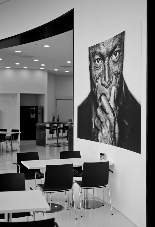 The Leica Campus in Wetzlar, May 2016. On the wall is a picture of Seal by Till Bronner. Leica M9 with Leica 50mm APO-Summicron-M ASPH f/2.0. © 2016 Thorsten Overgaard.