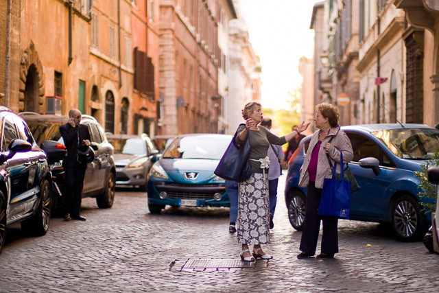The beautiful street, via Giulia in Rome. Leica TL2 with Leica 50mm Noctilux-M ASPH f/0.95. © 2017 Thorsten Overgaard.