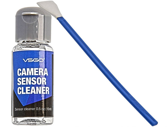 APS-C sensor cleaning kit, $15 kit from Amazon.