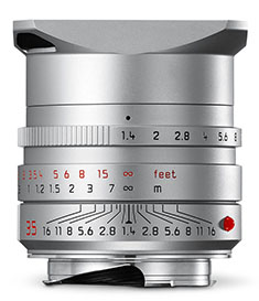 2014 Leica Summilux-M ASPH f/1.4  silver with floating elements