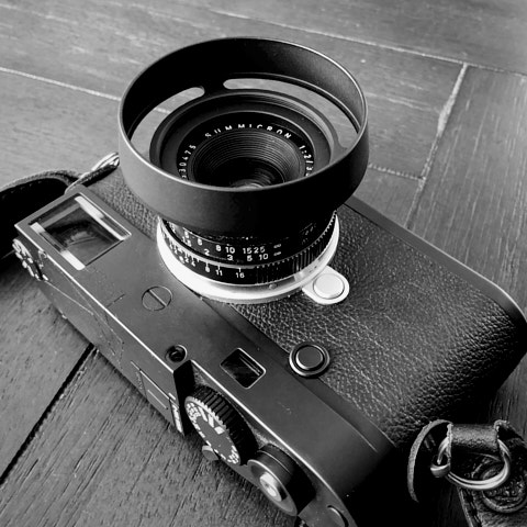 Leica M10-D with 35mm f/2.0 and the Matte Black ventilated shade E39.