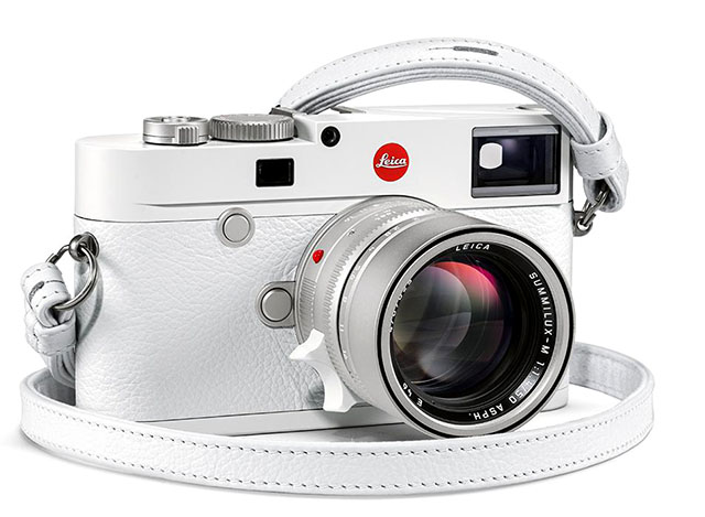 The White Leica M10-P with matching 50mm Summilux-M ASPH f/1.4 lens.