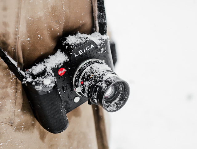 Leica SL in the snow during the New York blizzard in 2016.