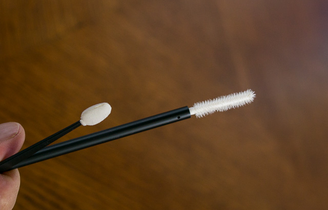 I usually visit the Sephora stores around the world and take some of their free brushes that works perfectly to clean the hard-to-get-to parts of the camera next to shutter dial, and other corners.
