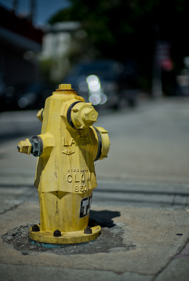 I once got an e-mail from a person who bought a Noctilux lens after he saw a photo I made of a fire hydrant with it. Since then I've obsessively been photographing fire hydrants (also called fireplugs). At least we're two people in the world who think they look really cool. Leica M10 with Leica 50mm Noctilux-M ASPH f/0.95 FLE. © 2017 Thorsten Overgaard.