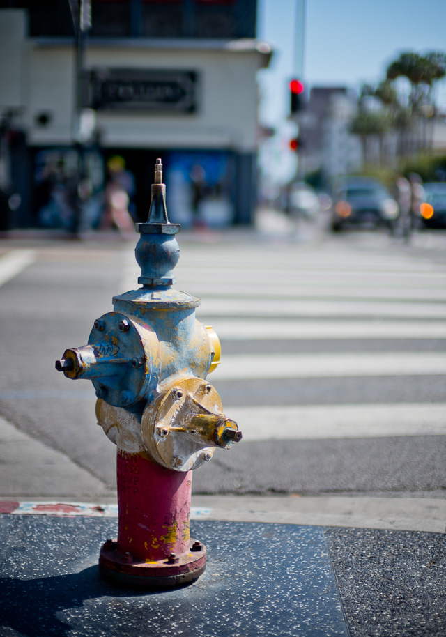 Another fire hydrant ... this one is prominently placed on Hollywood Boulevard. Leica M10 with Leica 50mm Noctilux-M ASPH f/0.95 FLE. © 2017 Thorsten Overgaard.
