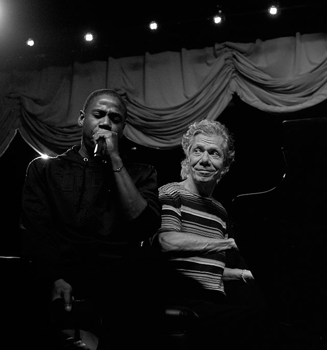 A unique, first-time-ever duet: Doug E Fresh and Chick Corea performing live together. Doug E Fresh as 'human beatbox', Chick on the Yamaha piano. Leica M10-P with Leica 50mm Summilux-M ASPH f/1.4 BC. © Thorsten Overgaard.